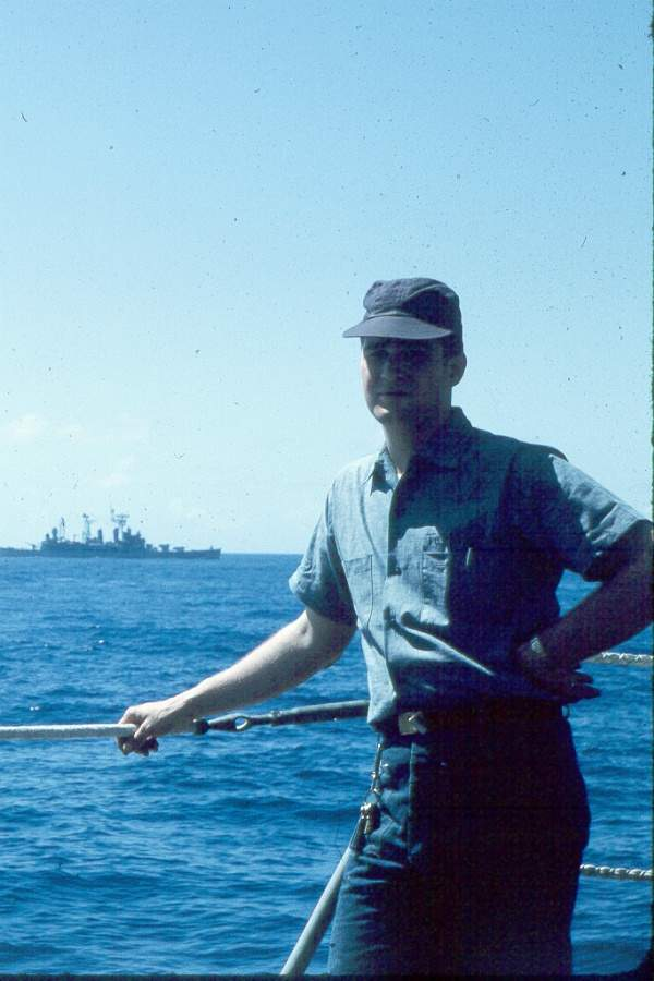 Me off Pearl Harbour in 1964. Sailing west.