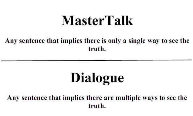 mastertalkdefinition